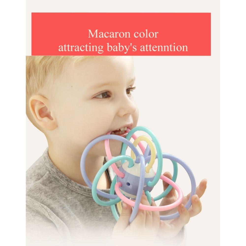 Bola de Manhattan juguetes del bebé de los dientes de mascar dientes de bebé apretando silicona, mano agarrando bola