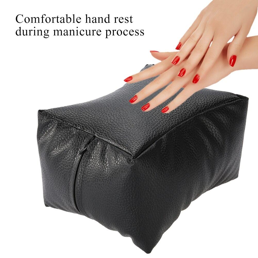 Arte de uñas de la mano y almohadilla para pie de la PU suave brazo resto manicura de salón almohada para manicura Lavable a mano cojín almohada tapete de uñas de