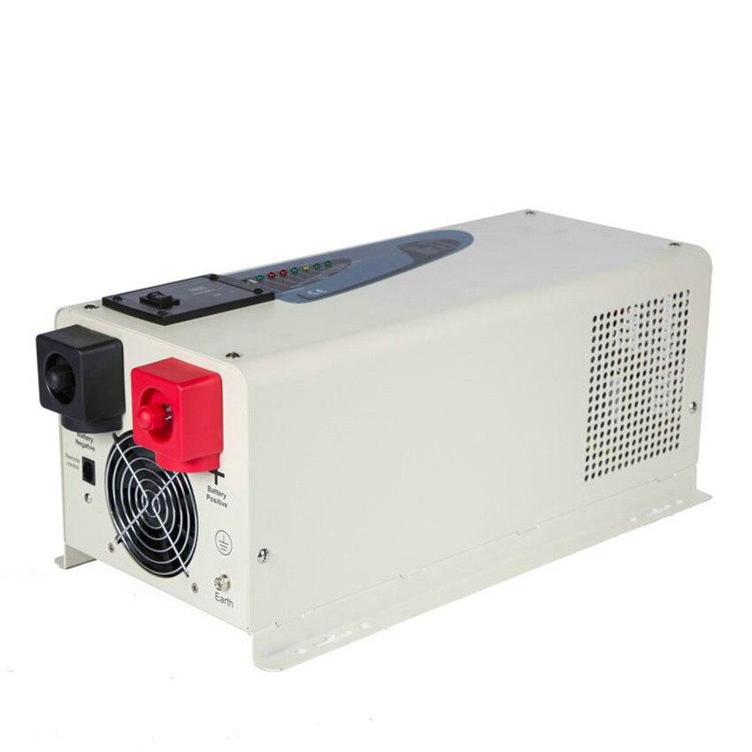 24V DC 12V 48V a AC 110V 220V baja frecuencia inteligente 3000w 3kw inversores de potencia de onda sinusoidal pura con cargador incorporado