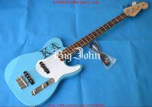 Guitare basse électrique personnalisée en bleu avec touche en palissandre tilleul corps F-1502 livraison gratuite