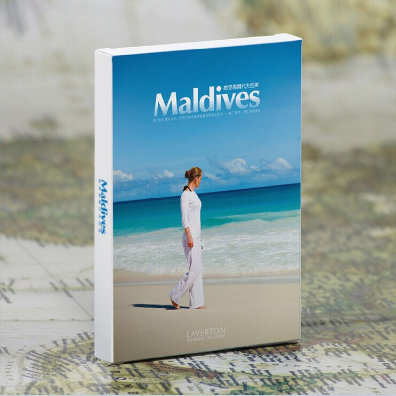 30 Uds paisaje de las Maldivas Tarjeta de correos azul mar vista Diseño pared con decoración de fotos tamaño estándar
