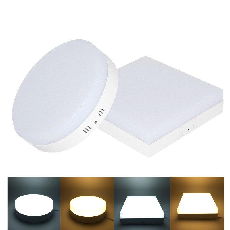 6W 12W 18W 24W LED okrągły/kwadratowy panel światła naścienne typu downlight oświetlenie led sufit dół AC85-265V + sterownik darmowa wysyłka