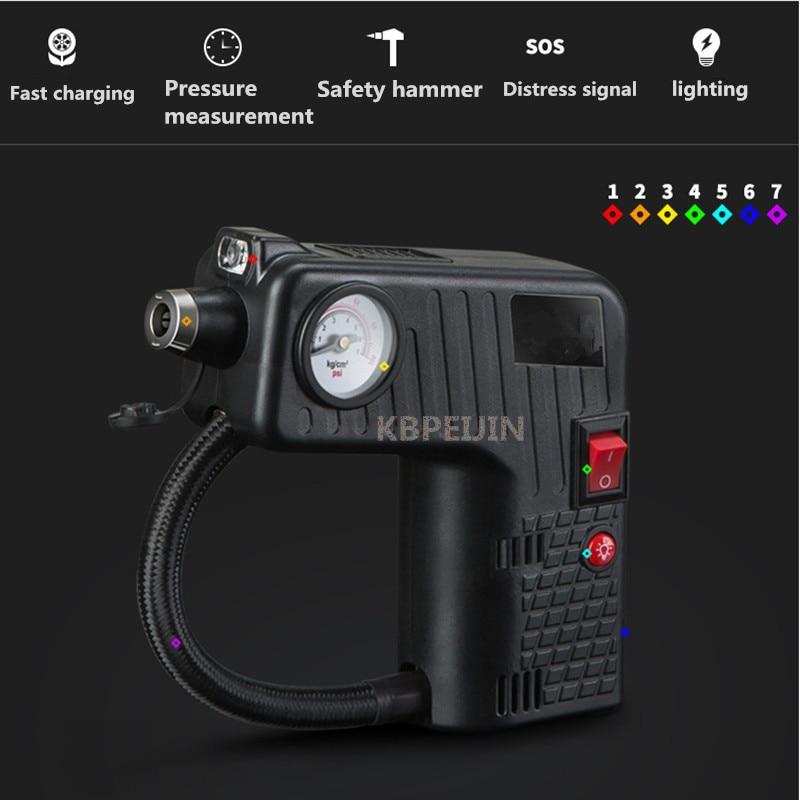 Portátil de 12 V Auto eléctrico del compresor de aire Inflador de neumáticos bomba de rescate lámpara para Volvo xc60 s60 s80 s40 v60 v40 xc90 accesorios