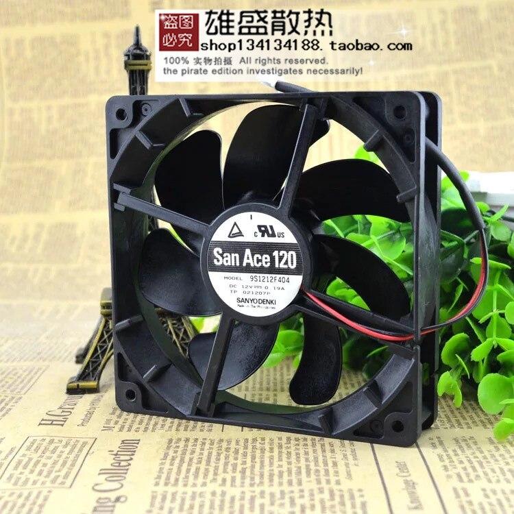 Настоящий Sanyo 12025 9S1212F404 DC12V 0.19A 12 см 120*120*25 мм бесшумный вентилятор охлаждения