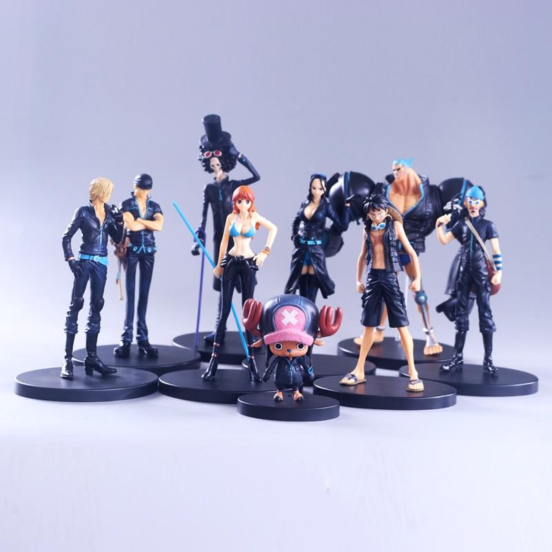 Comic Movies Theme Toys Gold City Sea Thief King Comic Model Ornament Full Set Nine Paragraph