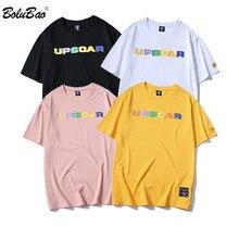 BOLUBAO marque hommes mode T-shirt été nouveaux hommes coton Simple lettre impression t-shirts mâle rue tendance T dessus de chemise