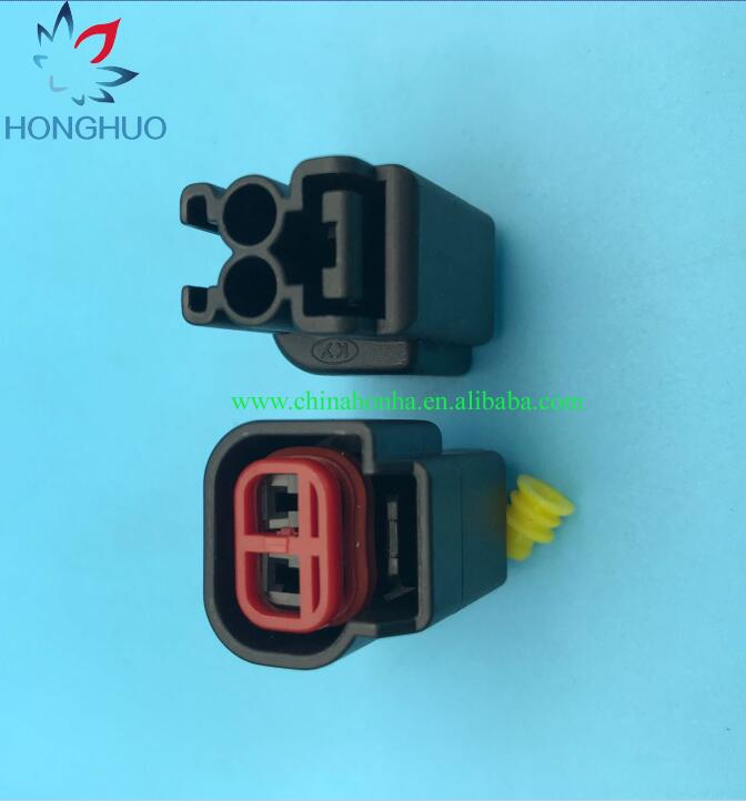 2Pin EV1 Fuel Injector Female Waterproof Electrical Connector 12129142