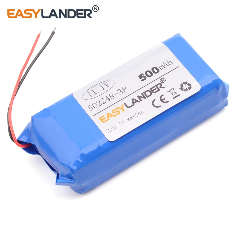 152248 502248-3P 11.1V 500mAh  Rechargeable  li Polymer Li-ion Battery For electronic product  Bluet