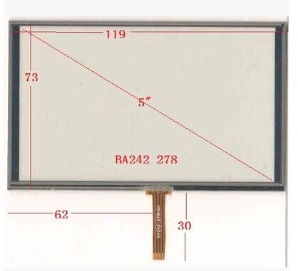10 قطعة/الوحدة جديد 5 بوصة مقاومة اللمس شاشة 119*73 ملليمتر متوافق الملاح XWT938 اللمس لوحة 119 مللي متر * 73 مللي متر