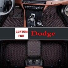Tapis de sol pour Dodge Ram Jcuv   Fait sur mesure, noir, vin rouge de voiture, tapis de sol pour intérieur de la voiture, 2018