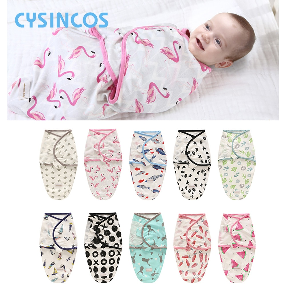 Спальный мешок для новорожденных хлопковая коляска Пеленальное Одеяло мягкое