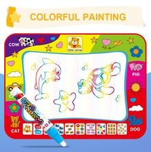 Scrivere Graffiti Penna di Doodle Giocattolo Del Bambino Il Riutilizzo di Alta Qualità Arcobaleno di Colore Educativi Per Bambini Magia Acqua Tela Coperta di Creativo