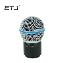 Freies verschiffen! 1 STÜCKE Professionelle Drahtlose Mikrofon Handheld MIC Beta58a sm 58 Kopf Kapsel Grill für PGX24/SYSTEM-SLX24