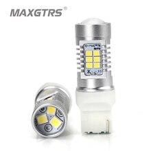 2x MAXGTRS T20 W21W 7440 LED blanco ámbar amarillo de alta potencia Led de marcha atrás de la lámpara de luz intermitente delantera del coche