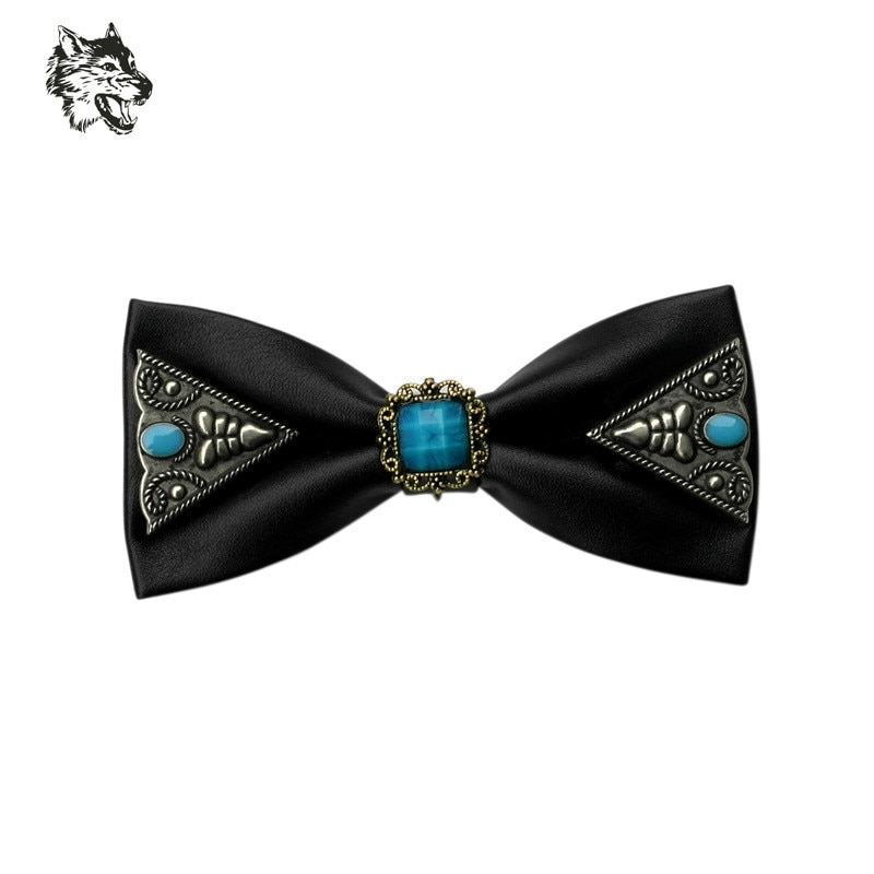 Fashion Diamond Leather Elegant Gentleman Bow Ties Butterfly Wedding Party Hoster Bow Ties Butterfly Gravata Gorgeous Bow Ties