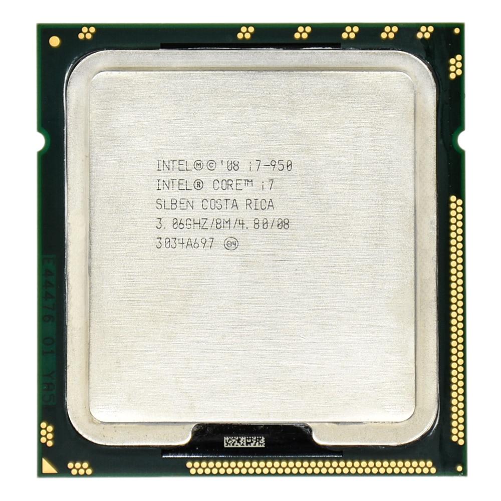 Lntel processador quad-core i7, cpu i7 950 3.06g 8m cachen 130w 45nm lga1366