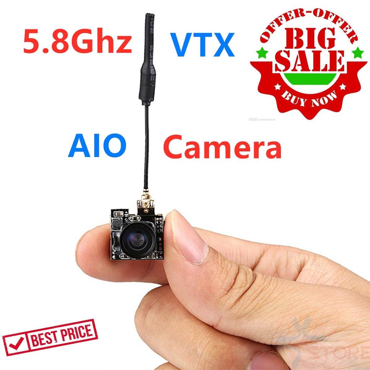 5,8G 25MW 40CH 800TVL transmisor LS-S2 Cámara FPV 3,6g FPV AIO Micro Cámara ultraligero NTSC/PAL/conmutable