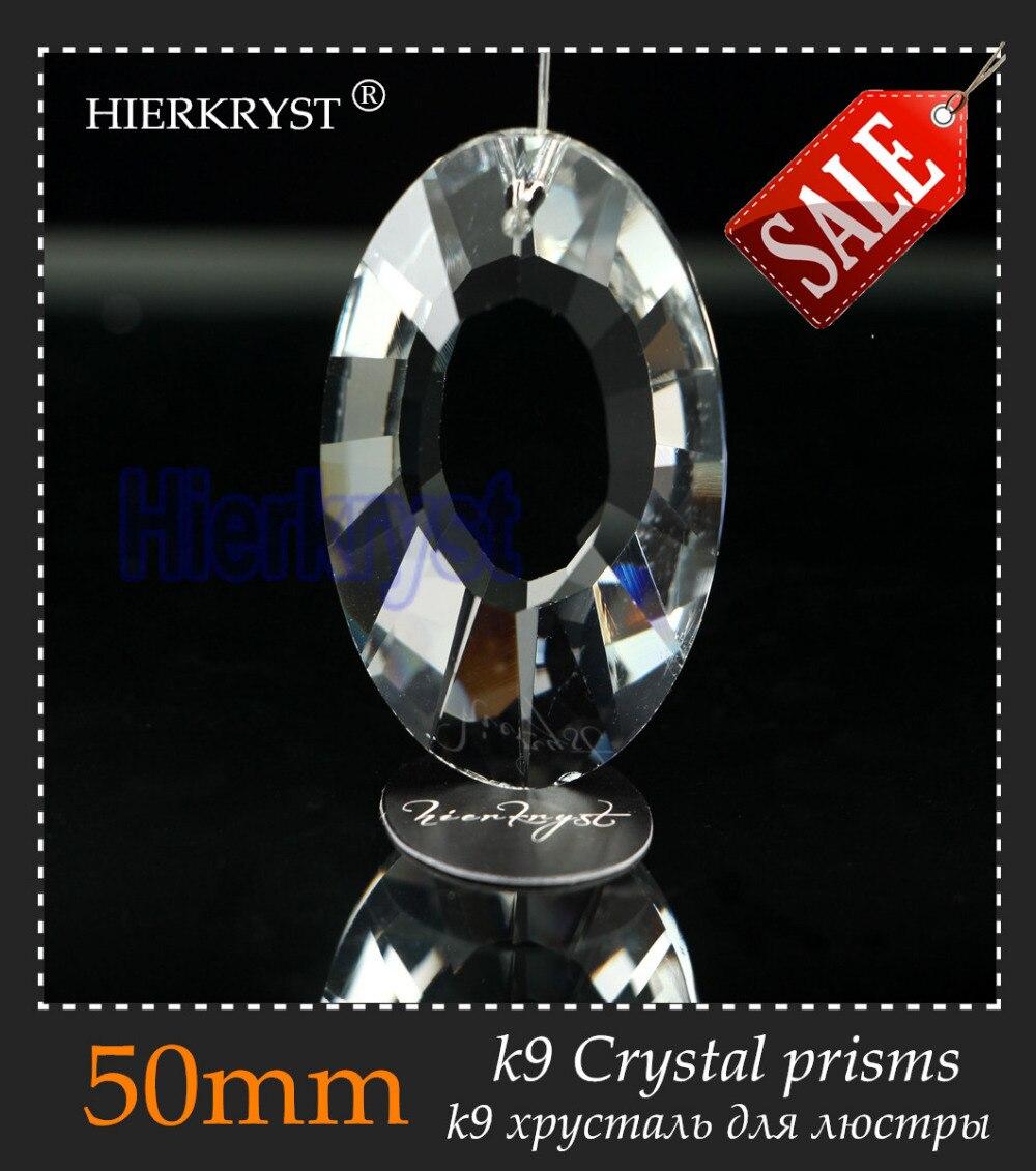 "Hierkyst 1 Stück K9 Glas Kristall Prismen Anhänger Kronleuchter Teile Lüster Regenbogen Lampe Beleuchtung hängen Tropfen 50mm 2 ""#1920"