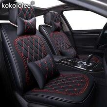 Housse de siège en cuir synthétique   Kokolee, pour kia ceed lada granta seat ibiza bmw e46 e36 audi a3 8p fiat, accessoires de style de voiture