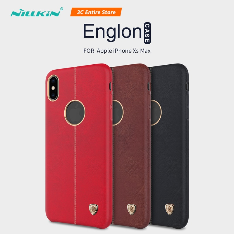 Nillkin Phone Case For iPhone XS Max Case Leather Back Original Phone Cover For iPhone XS Max Retro Luxury Coque Ultra Slim Caso