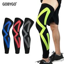 GOBYGO 1PCS Men Women Compression Cycling Leg Warmers MTB Bike Leggings Running Basketball Soccer Knee Pads Leg Protection