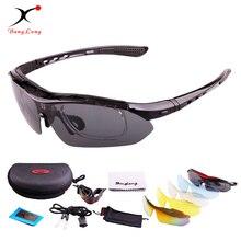 BangLong Polarizzati Occhiali Da Sole di sport Ciclismo Regolabile occhiali da sole UV400 Occhiali Bicicletta Moto di Guida Occhiali da sole Unisex Occhiali 5 Lens