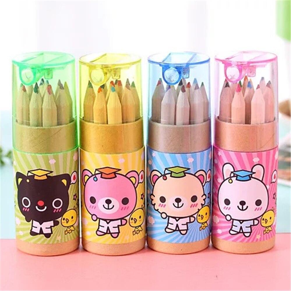 Precioso oso doctor Color lápiz 12 colores Escuela Primaria estudiantes Color plomo arte infantil pintura suministros no tóxico