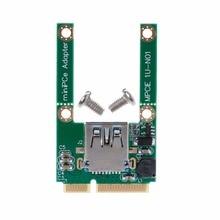 1 satz Mini PCI-E PCI-Express Card Zu USB 2.0 Männlichen Konverter Adapter Karte USB 2.0 zu Mini PCI E Adapter konverter Mit Schrauben C26