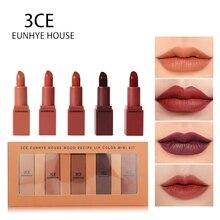3CE EUNHYE maison rouge à lèvres mat étanche lèvres cosmétiques facile à transporter rouge à lèvres ensemble 5 couleurs dans lensemble offre spéciale