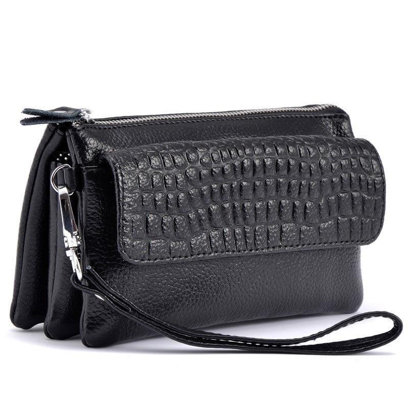 New Genuine Leather Women Crossbody Bag Alligator Coin Purse Shoulder Evening Bag Lady Handbag Day Clutch Card Wallet Minaudiere