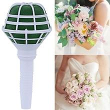6pcs DIY Flowers Artificial Flowers Holder Floral Foam Oasis Bouquet Posy Holder for Wedding Bridal Flower Home Decorative