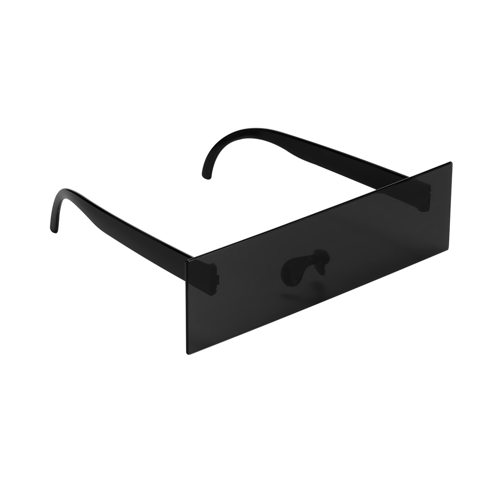 Gafas de conductor Photobooth Props Censor anteojos de sol en forma de barras ojo negro cubierto gafas de sol Photo Booth Props decoración de fiesta, boda