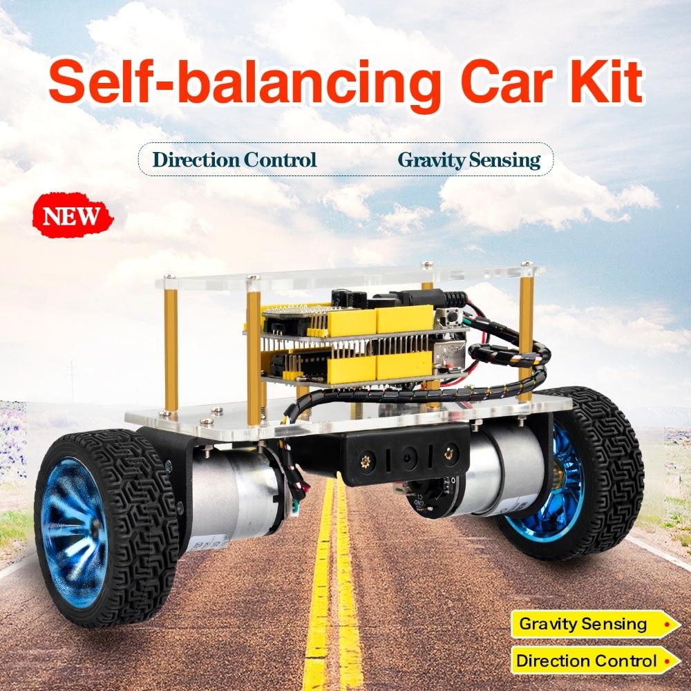 Keyestudio الذاتي موازنة التوازن سيارة روبوت عدة لاردوينو روبوت لتقوم بها بنفسك عدة إلكترونية/الجذعية مجموعات لعب الاطفال