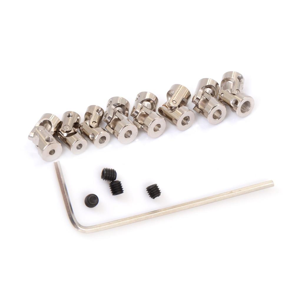 Junção universal dos acoplamentos do cardan do cardan do metal do cardan para 4*3.175mm/4*4mm/4*5mm/5*3mm/5*4mm/5*5mm/5*5mm/5*6/6*6mm