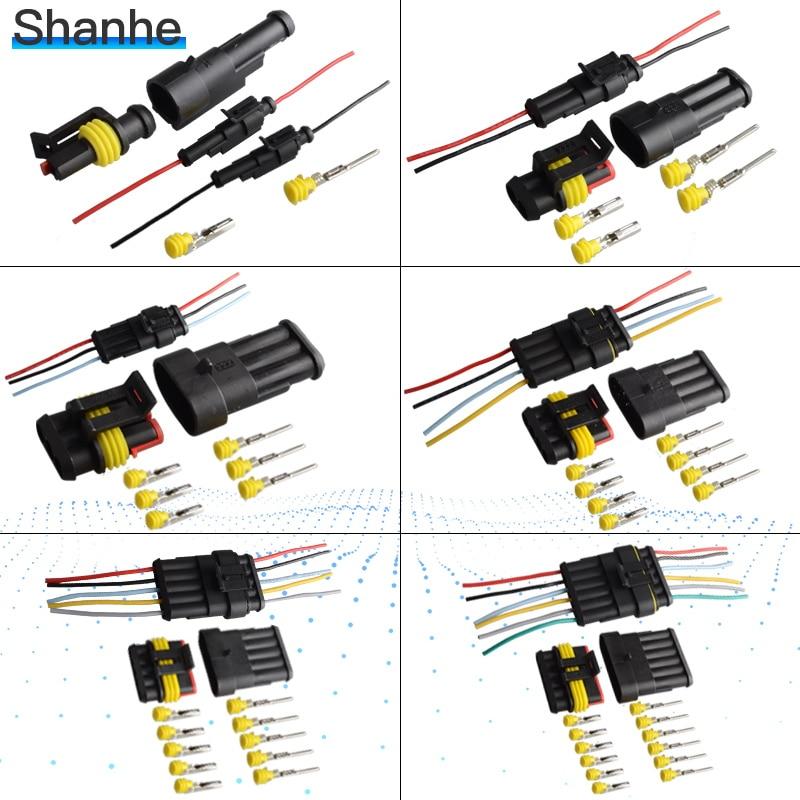 Flame retardancy 1P 2P 3P 4P 5P 6P way Sealed waterproof automotive Wire Connector Plug Car Motorcycle HID auto connector