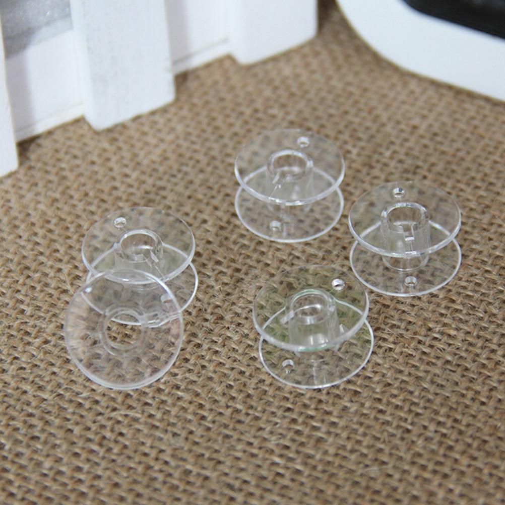 20 piezas de plástico costura hilo de coser bobinas casa carrete para máquina de coser hilo cadena vacía bobinas para máquina de coser