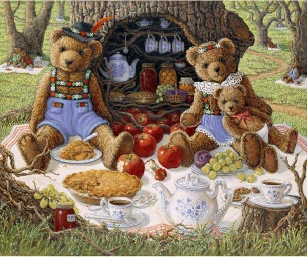 Pintura diamante crianças, pintura em mosaico, urso de peluche, strass bordados