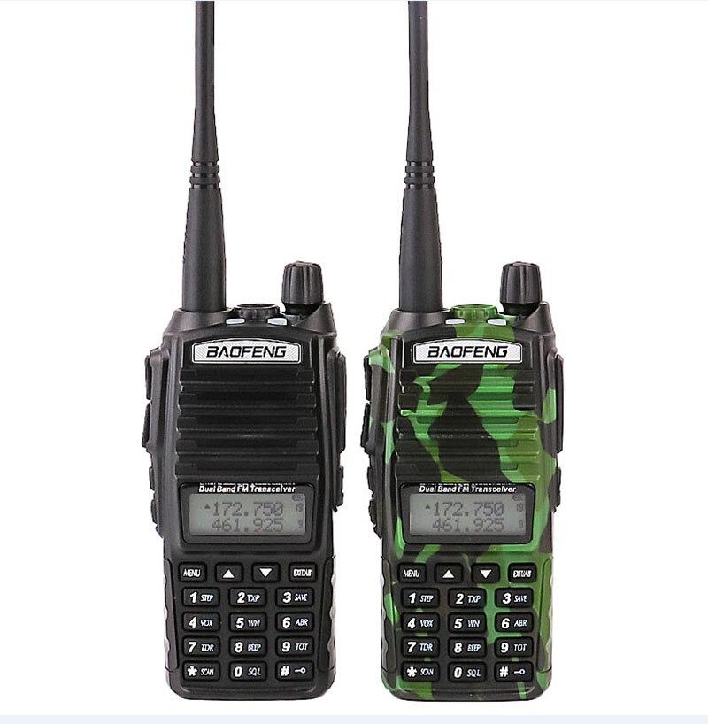 Na venda 2pcs carro walkie talkies conjunto com fm vox rádio móvel cb uhf scanner polícia walky talky profissional baofeng uv-82 uv 82