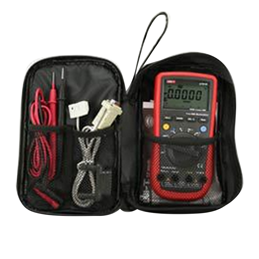 Bolsa de herramientas a prueba de agua multímetro duradero, bolsa de lona negra para tela multímetro Digital serie UT61 20*12*4cm