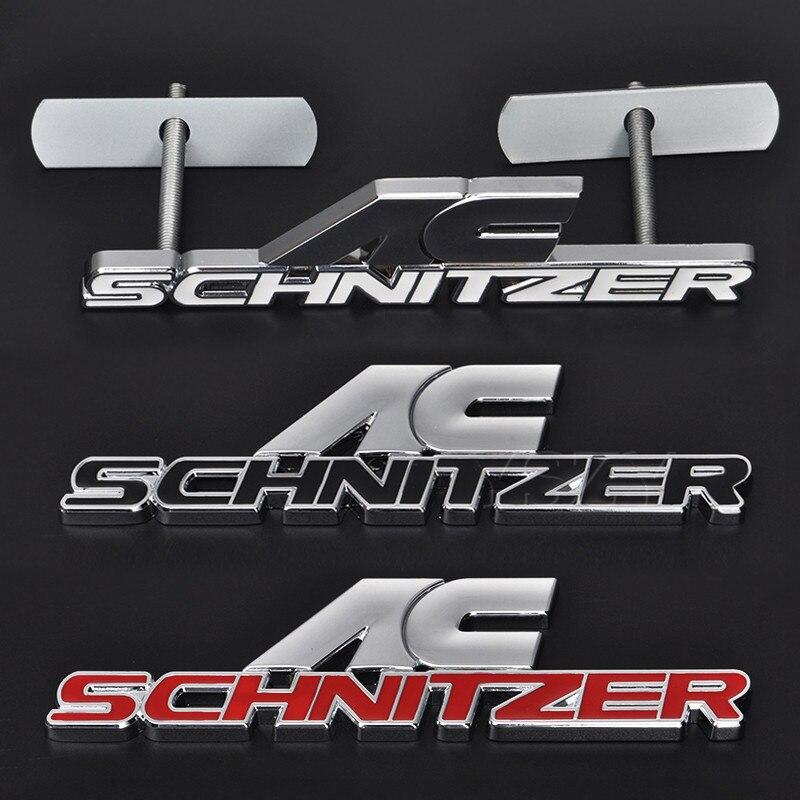 Moda Dianteira Do Carro Remontagem Logotipo Grade Da Grade Do Emblema Auto Adesivos Para BMW AC Schnitzer M 3 5 6 Z E X1 X3 X5 X6 E36 E46 E39 E34