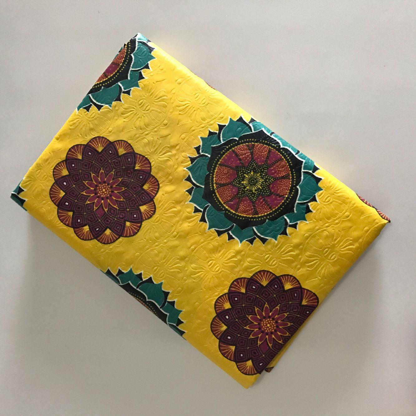 Nigeria de telas bazin riche 2019 estampado de tela jacquard bordada lazo teñido tela bazin 5 yarda/lot-BWL30