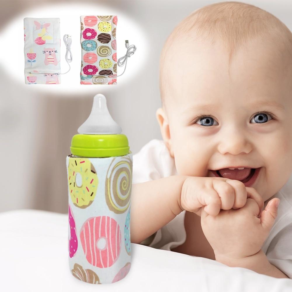 Calentador de botella de leche portátil USB para bebé, calentador de taza de viaje, bolsa para botella de alimentación infantil, cubierta de almacenamiento, termostato de aislamiento
