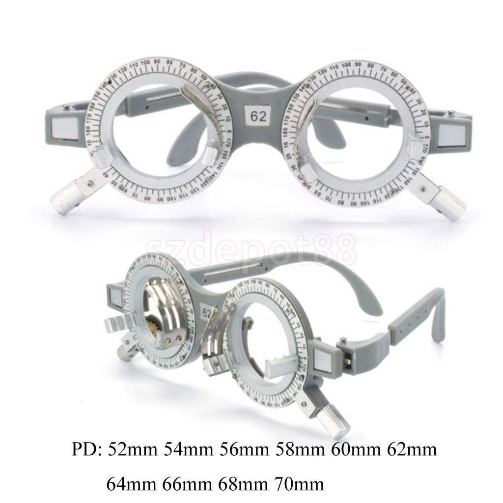 Ótica ajustável universal 52mm 56mm 58mm 60mm 62mm 64mm 66mm 68mm 70mm optometry do quadro da lente de avaliação ótica ajustável