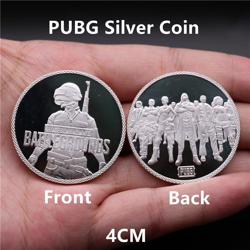 Juego PUBG recoger moneda Tossing elección insignia de Cosplay Logo Golden Coin originalidad divertido regalo de Navidad