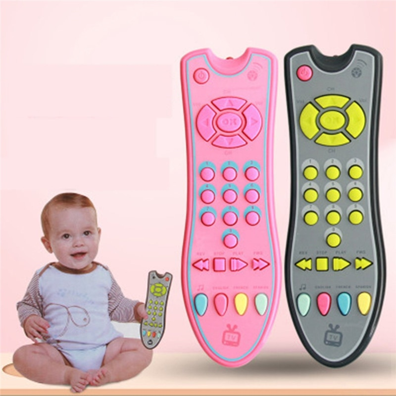 Música Teléfono Móvil TV Control remoto bebé juguetes educativos para edades tempranas números eléctricos máquina de aprendizaje remota regalo para bebé