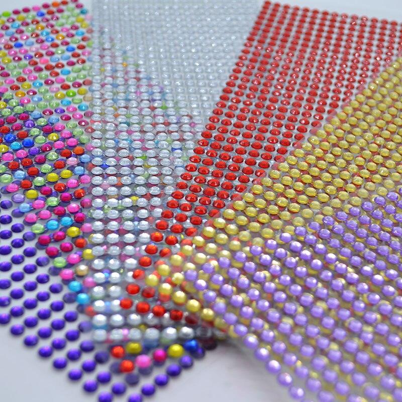 646 uds/hoja 5mm auto diamantes de imitación adhesivos acrílicos DIY calcomanía Scrapbooking pegatinas móvil/PC decoración chispa gemas artesanía