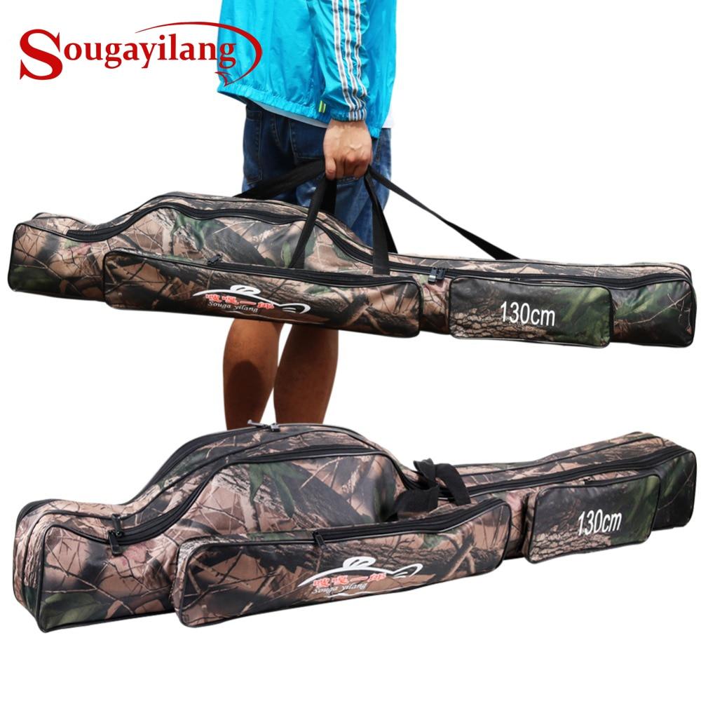 Bolsa plegable De 2 capas soogayilang, impermeable, Bolsa De caña De pescar, 130cm, bolsa De Pesca para caña De agua dulce salada y agua De mar