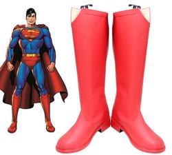 Temporada 2 Traje Supergirl Superman Clark Kent Cosplay Botas Sapatos Vermelhos de Couro Acessórios Adereços de Halloween Carnaval Cosplay