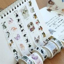 Black Cat Washi Tape sticker kawaii stationery planner masking DIY Owl giraffe rabbit Scrapbooking Sticker Label Masking Tape