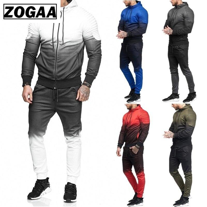 ZOGAA, conjunto informal de chándal para hombre, prendas de vestir, chándal deportivo, chándal, Tops y pantalones, sudaderas de manga larga, chándales para hombre, ropa para hombre